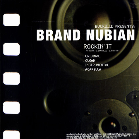Brand Nubian / DITC - Rockin'it / Spend It