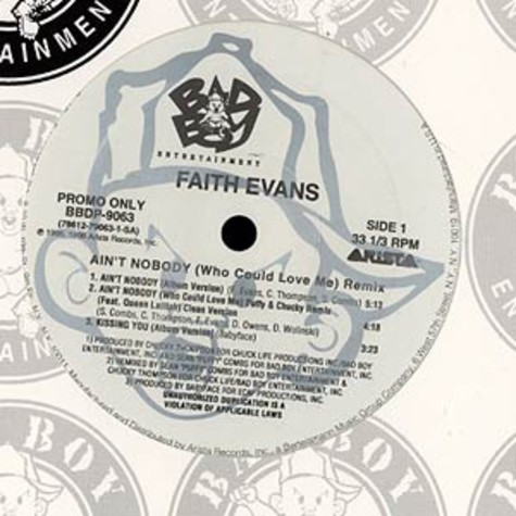 Faith Evans - Ain't nobody (who could love me) Remix