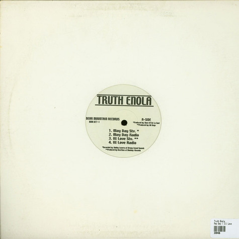 Truth Enola - May Day / Ill Love