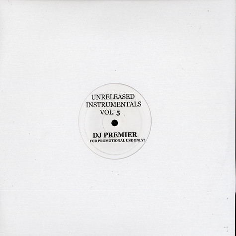 DJ Premier - Unreleased Instrumentals Volume 5