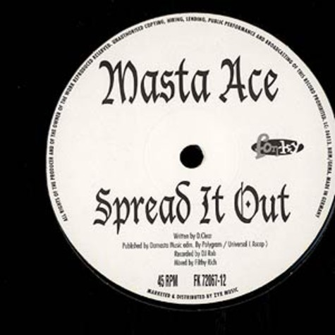 Masta Ace - Spread it out