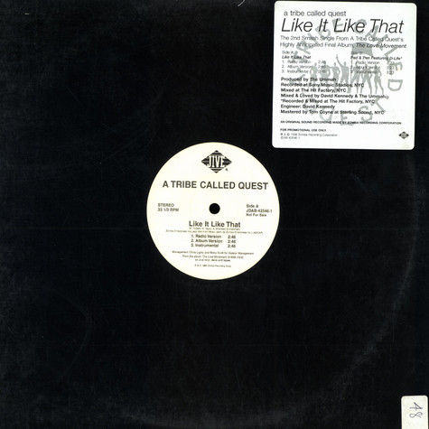 A Tribe Called Quest - Like It Like That / Pad & Pen