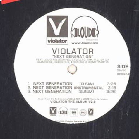 Violator - Next generation / livin the life