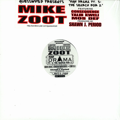Mike Zoot - High drama pt.3 feat. Mos Def, Talib Kweli & Consequence
