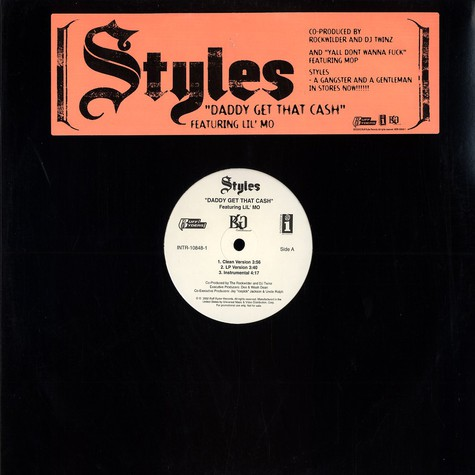 Styles - Daddy get that cash