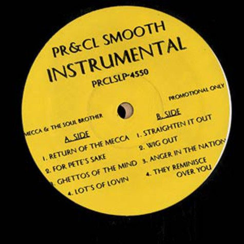 Pete Rock & C.L. Smooth - Mecca And The Soul Brother Instrumentals
