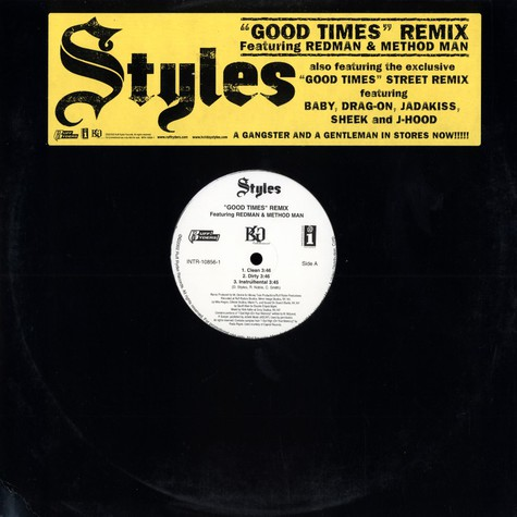 Styles - Good Times Remix feat. Redman & Method Man