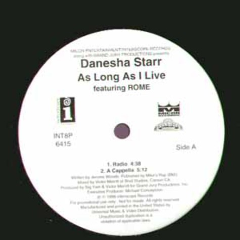 Danesha Starr - As long as i live feat. Rome