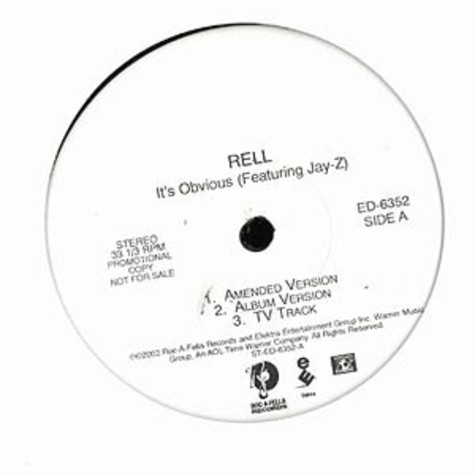 Rell - It's obvious feat. Jay-Z