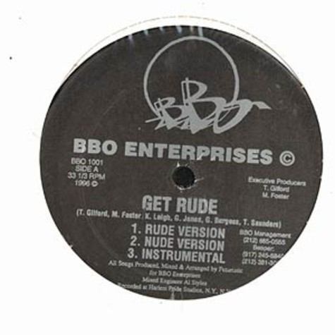 BBO Enterprises - Get rude