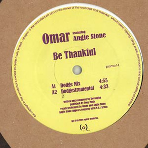 Omar - Be thankful feat. Angie Stone