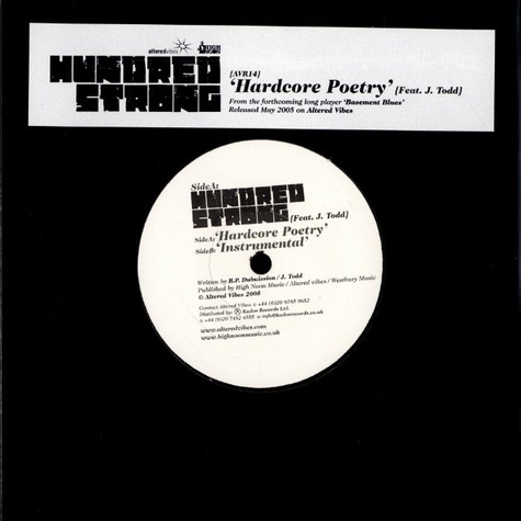 Hundred Strong - Hardcore poetry