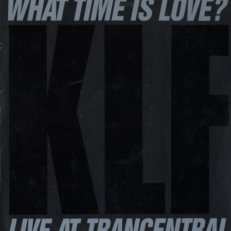 KLF - What time is love live at trancentral