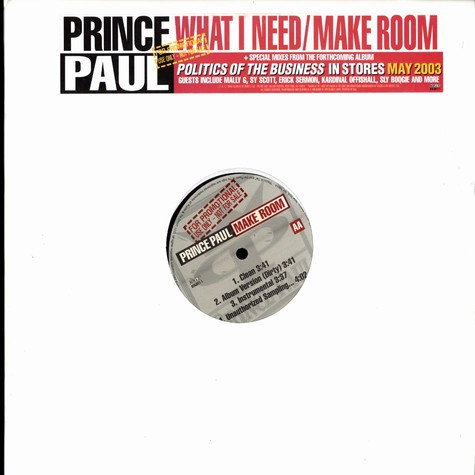 Prince Paul - What i need