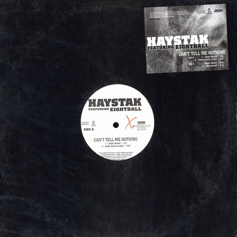 Haystak - Can't tell me nothing feat. Eightball