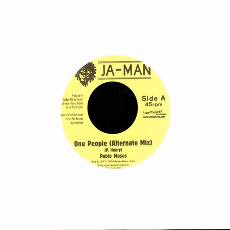Pablo Moses / The Rebels - One people (alternate mix) / dub in unity
