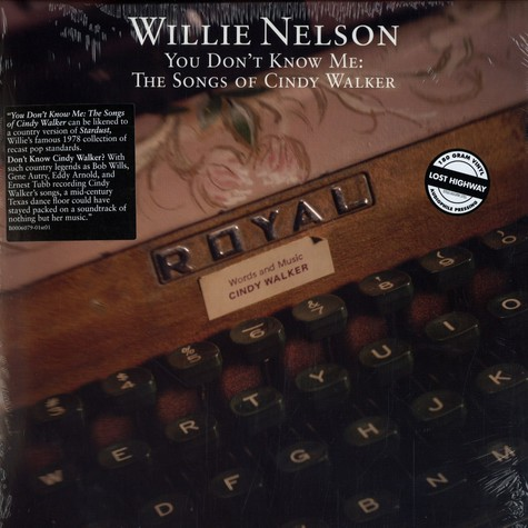 Willie Nelson - You don't know me - the songs of Cindy Walker