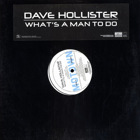 Dave Hollister - What's a man to do