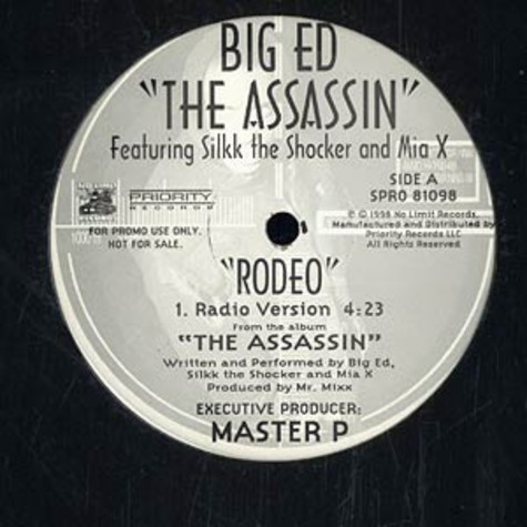 Big Ed - Rodeo feat. Silkk The Shocker and Mia X