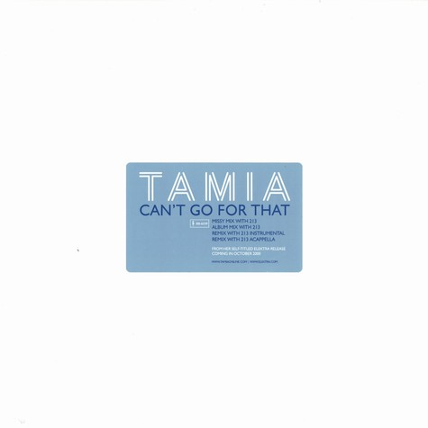 Tamia - Can't go for that