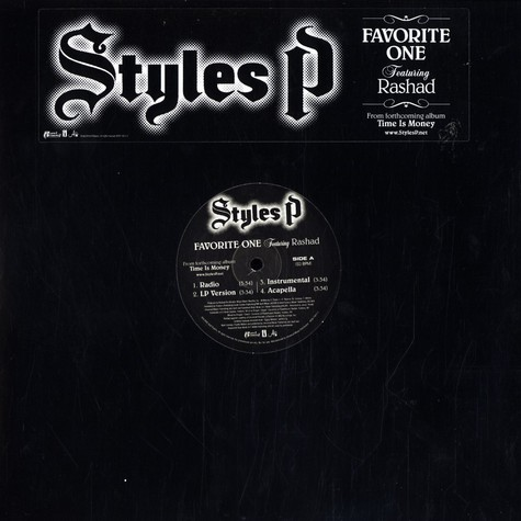 Styles P - Favorite one feat. Rashad