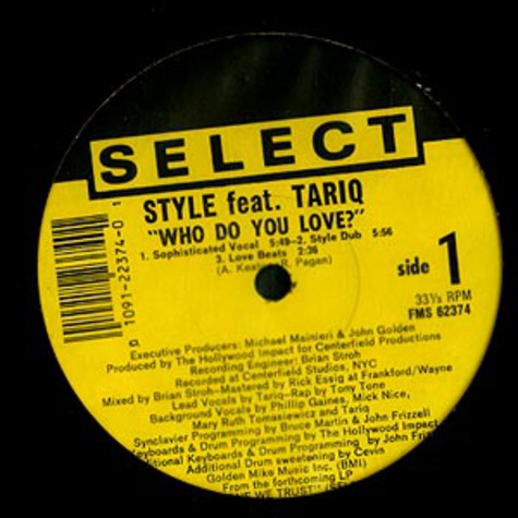 Style - Who Do You Love? feat. Tariq
