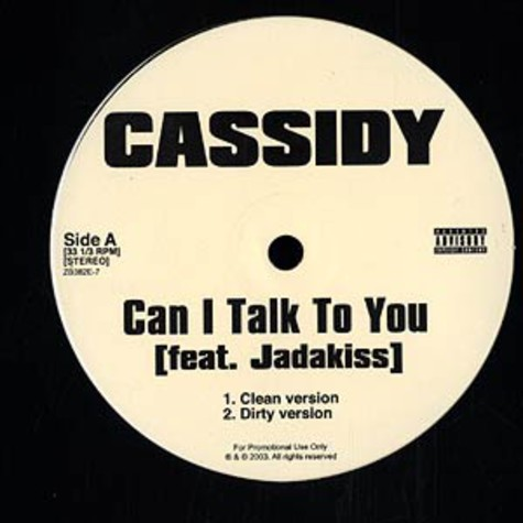 Cassidy - Can i talk to you feat. Jadakiss