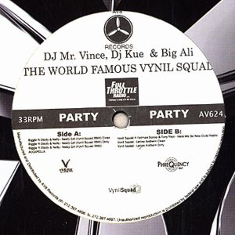Vynil Squad - Nasty girl feat. Notorious B.I.G., Diddy & Nelly