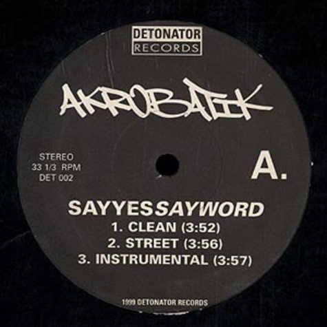 Akrobatik - Say yes say word