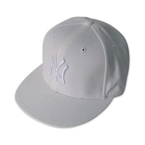 New Era - White on white NY cap