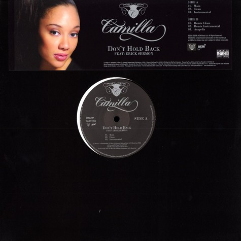 Camilla - Don't hold back feat. Erick Sermon