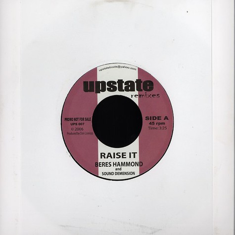 Beres Hammond & Sound Demension - Raise it