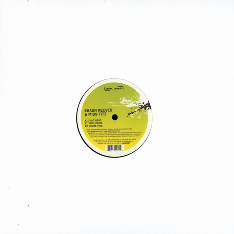 Shaun Reeves & Miss Fitz - This house EP