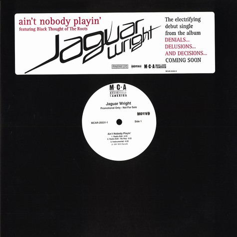 Jaguar Wright - Ain't nobody playin feat. Black Thought