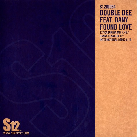 Double Dee - Found love feat. Dany