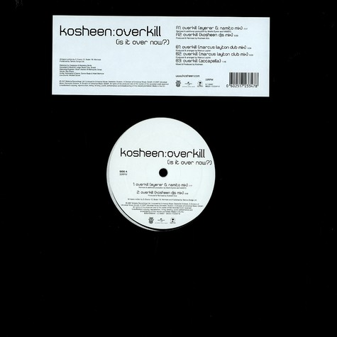 Kosheen - Overkill (is it over now?)