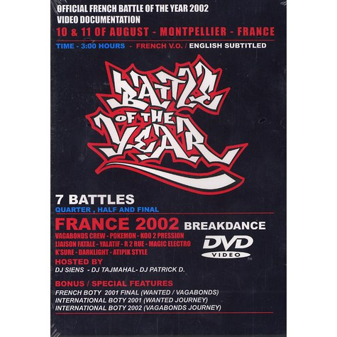 Battle Of The Year (International) - Official French battle of the year 2002