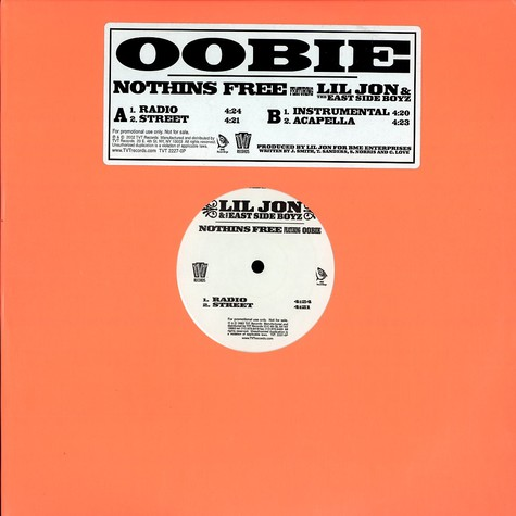 Oobie - Nothins free feat. Lil Jon & The East Side Boyz