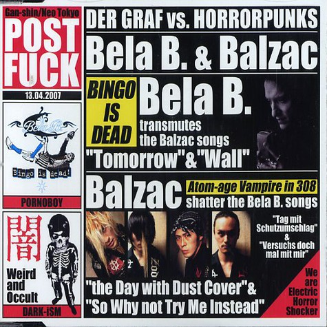 Bela B. & Balzac - Der Graf Vs. Horrorpunks