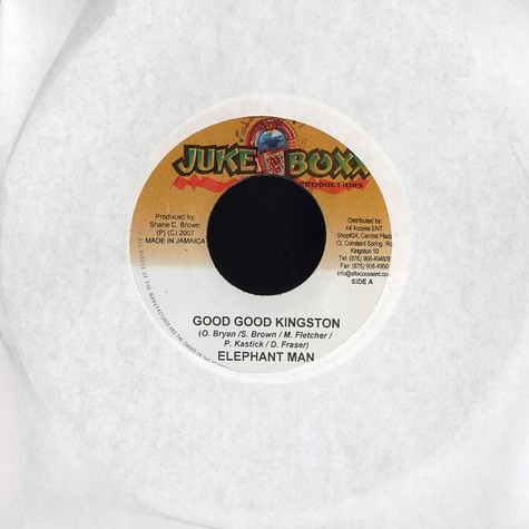Elephant Man - Good good Kingston