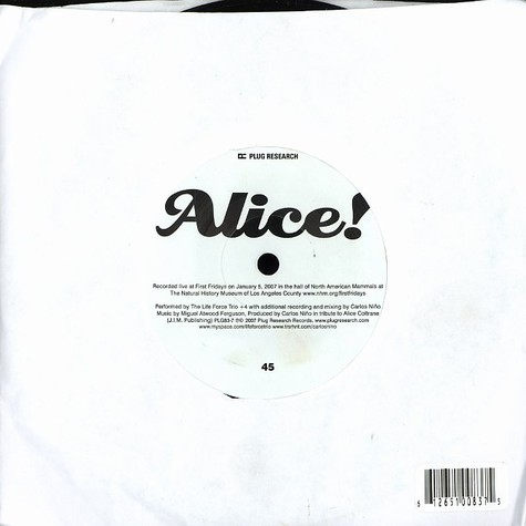 Life Force Trio, The - Alice!