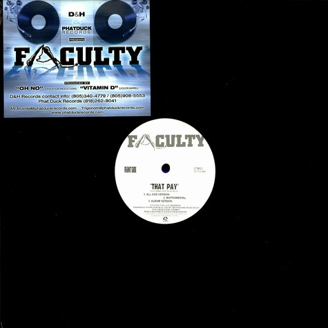 Faculty - That pay