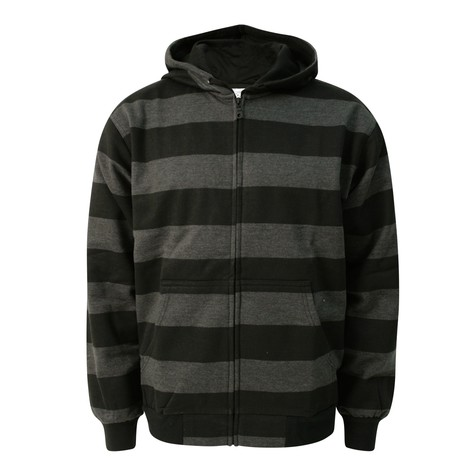 DMC & Technics - Striped zip-up hoodie