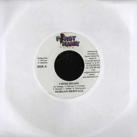 Morgan Heritage / Tony Gold - Cross roads / with out you