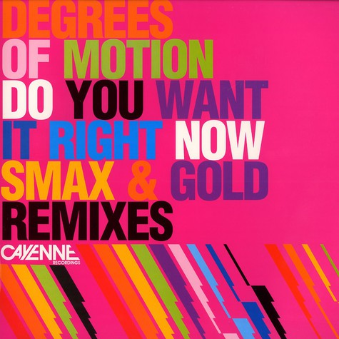 Degrees Of Motion - Do you want it right now remixes part 1