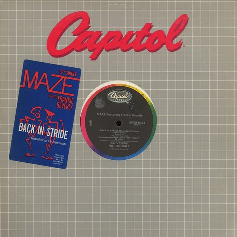 Maze - Back in stride feat. Frankie Beverly