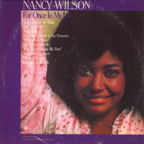 Nancy Wilson - For once in my life
