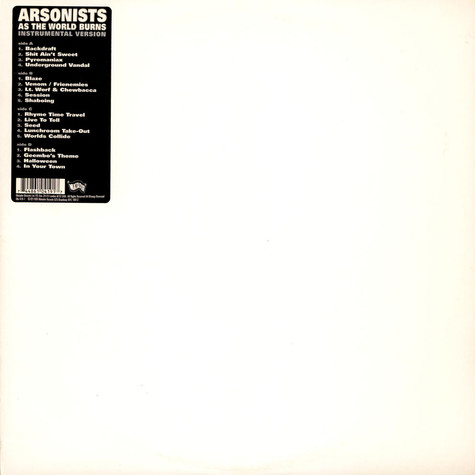 Arsonists, The - As The World Burns - Instrumentals