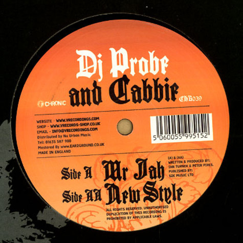 DJ Probe & Cabbie - Mr jah