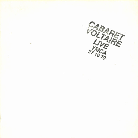 Cabaret Voltaire - Live at YMCA 27.10.79